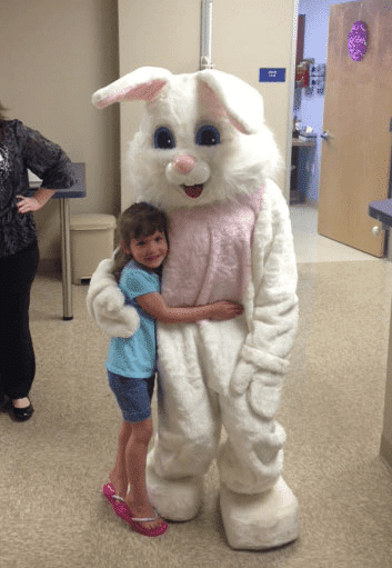 Easter Bunny in Clinic